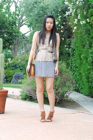 forever 21 dress - free people top - American Eagle belt - Nordstrom vest - Stev