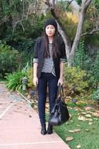 blue Zara t-shirt - black Mango blazer - blue Forever 21 jeans - black Dolce Vit