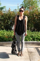 forever 21 top - forever 21 jeans - Mossimo - H&M sunglasses - H&M purse