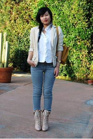 Classiques Entier blouse - American Eagle blazer - Bullhead jeans - coach purse 