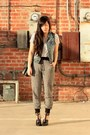 White-h-m-dress-blue-forever-21-vest-heather-gray-forever-21-pants-black-a