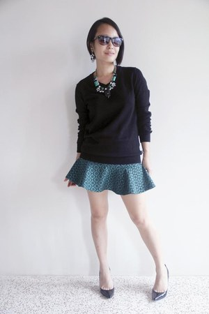 green SOMETHING BORROWED skirt - black Padini sweater