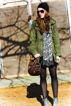 Urban Outfitters scarf - Urban Outfitters boots - Target dress - marshals jacket