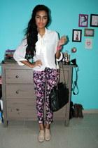 magenta Suite Blanco jeans - light pink GoJane flats