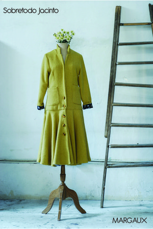mustard whool jacinta clo coat