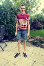 Topman shirt - navy leather Timberland Classic Boat shoes - denim Topman shorts