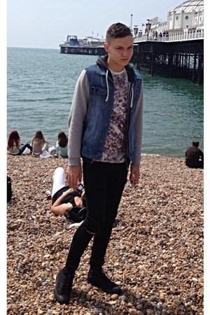black River Island jeans - sky blue denim Forever 21 jacket
