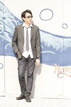 gray banana republic blazer