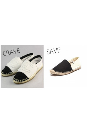 color blocked Chanel flats - color blocked soludos flats