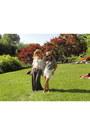 Cream-crochet-top-shop-shirt-black-ray-ban-sunglasses-gray-knit-lf-skirt