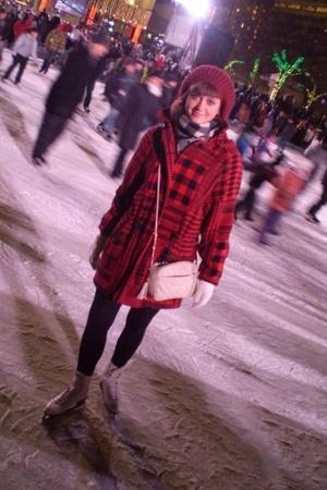 coat - H&M hat - vintage scarf