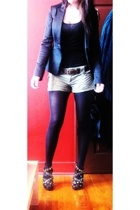 H&M blazer - H&M belt - Urbanogcom shoes - Mango shorts