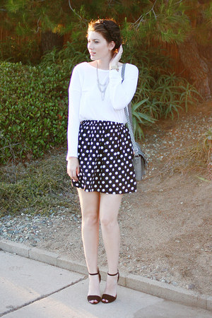 heather gray Target purse - black Zara shoes - white Old Navy shirt