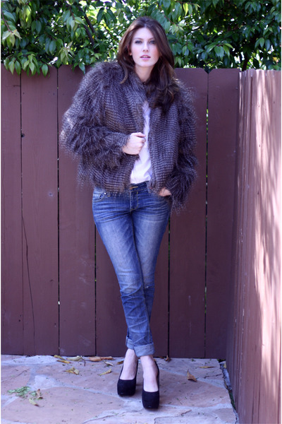 brown faux fur JC Penney jacket