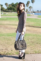 charcoal gray melie branco purse