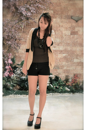 two tone Summersault blazer - black People are People shorts