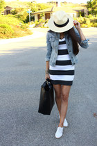 Jcrew hat - Express dress - Zara bag