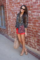 Gap blouse - MARC CAIN bag - Jcrew shorts - Aldo pumps