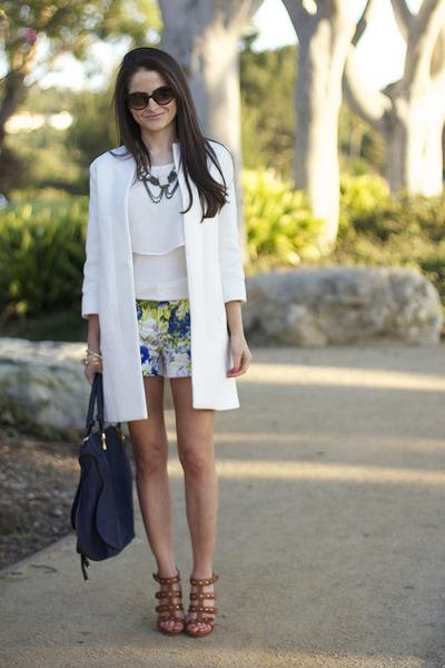 Zara shorts - Zara coat - Gucci heels