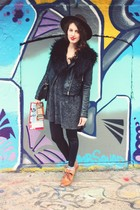 H&M boots - vintage hat - H&M jacket - vintage sweater - Target leggings