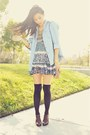 Dark-brown-lace-up-oxford-joie-boots-puce-thrifted-dress-light-blue-denim-bu