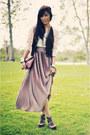 Dark-brown-forever-21-shoes-maroon-clutch-vintage-bag-off-white-dress-worn-a