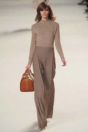 brown Chloe blouse - brown Chloe pants - brown Chloe purse