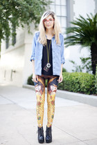 gold Black Milk leggings