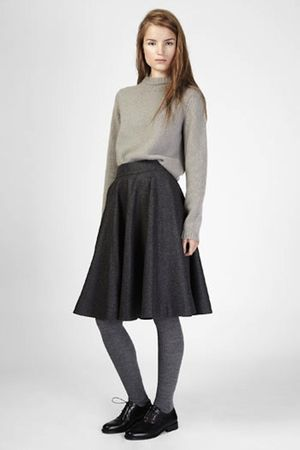 gray COS top - gray COS skirt - gray COS socks - black COS shoes