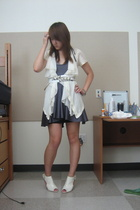 forever 21 shoes - Zara belt - American Apparel dress - Ebay shirt