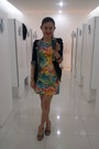 Open-toe-girlie-shoes-floral-print-dao-design-dress-cotton-kwan-blazer