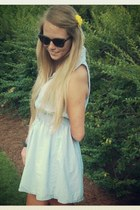 chambray Zara dress - round wayfairer ray-ban sunglasses