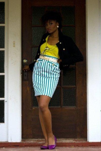 f21 coat - f21 shirt - Thrift Store skirt - Thrift Store belt - Charollette Russ