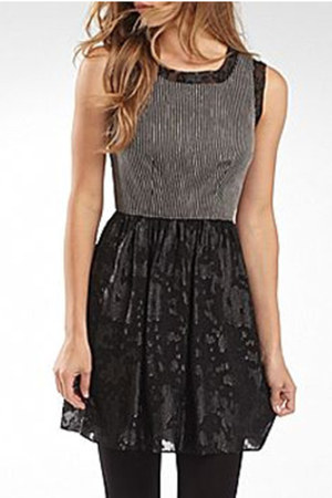 charcoal gray stripe I Heart Ronson dress