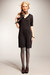 dark brown shootie Worthington boots - dark gray v-neck Ana dress