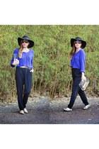 black Charlotte Russe jumper - floppy hat Forever 21 hat - knitted H&M top