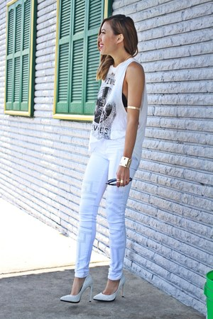white J Brand jeans - pumps Aldo heels