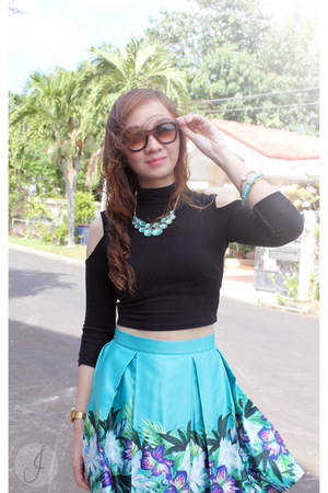 aquamarine Apartment 8 Clothing skirt - black Forever 21 top