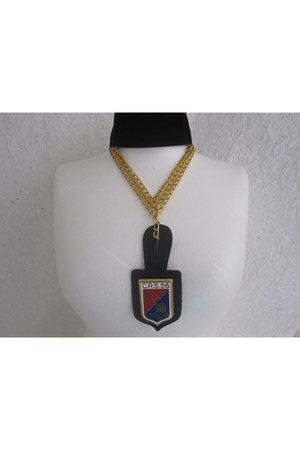 red choker Jean Joaillerie necklace