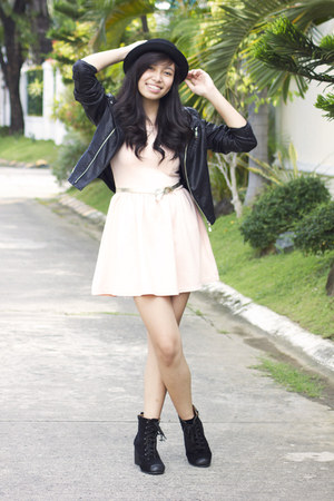 black Maple jacket - peach H&amp;M dress