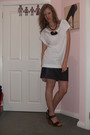 Black-skirt-white-shirt