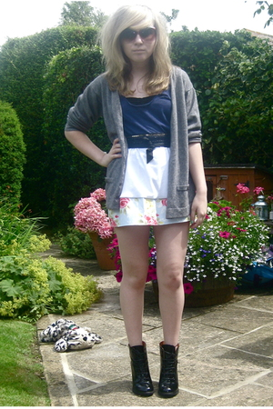 Topshop shoes - made by me skirt - American Apparel top - Stolen from my Sister