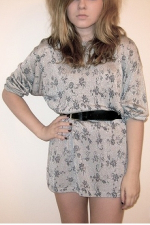vintage dress - charity shop belt