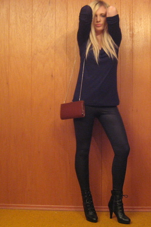 forever 21 top - American Apparel pants - forever 21 purse - payless shoes