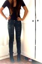 American Apparel t-shirt - sass & bide jeans - Colin Stuart boots