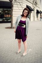 purple Target dress - gray Aldo shoes - gray Forever 21 cardigan - white Urban O