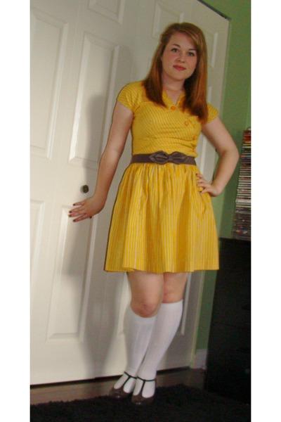 yellow belt dress the dress shop