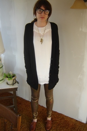 vintage glasses - ForLove 21 necklace - Nordstrom sweater - Topshop dress - Amer