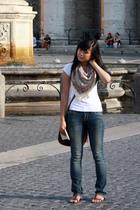 Wet Seal t-shirt - Liz Clairborne purse - Delias scarf - Delias jeans - Unionbay