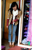 Wet Seal shirt - scarf - abercrombie and fitch shirt - Delias jeans - shoes